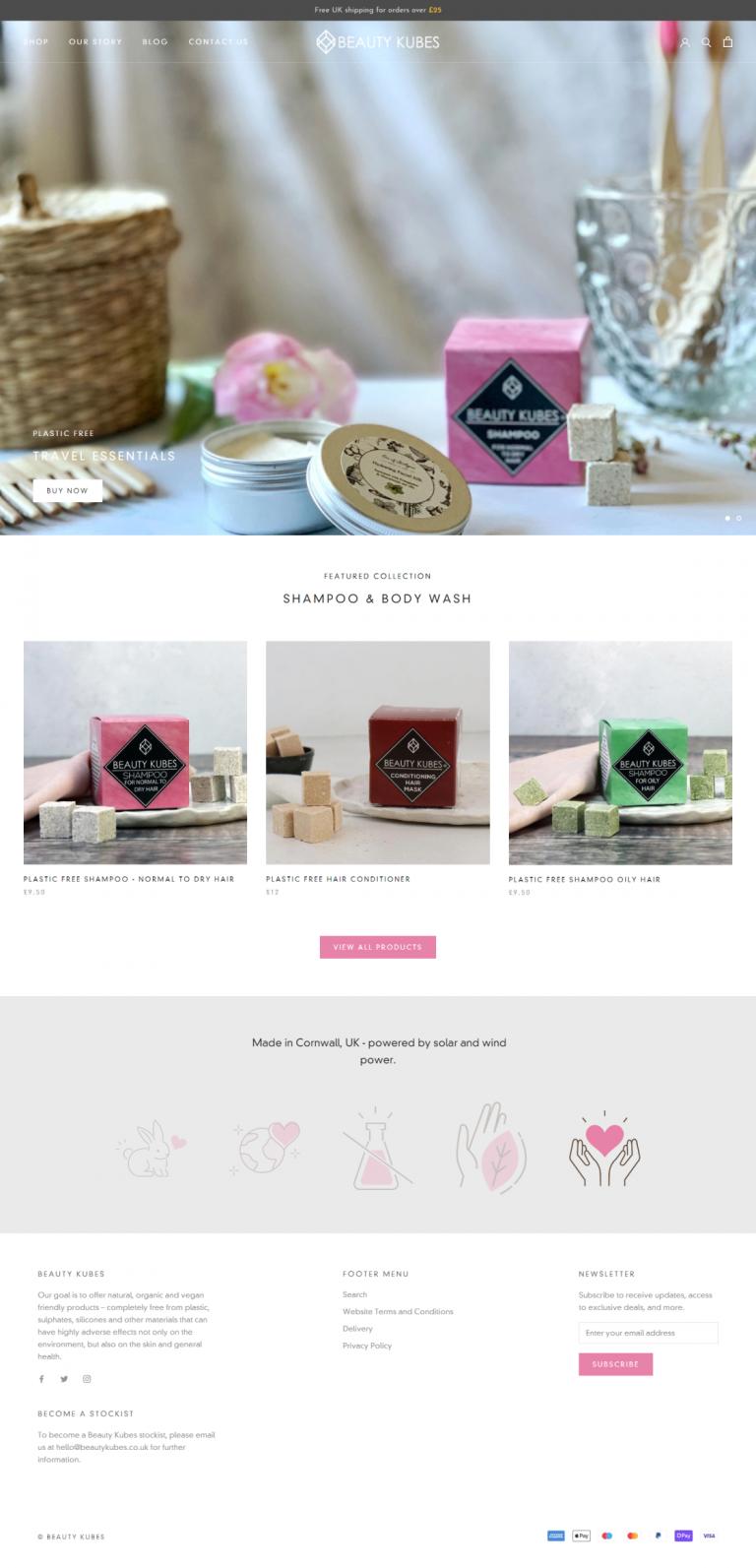 Beauty Kubes Zero Waste Organic Beauty Products Shopify Store